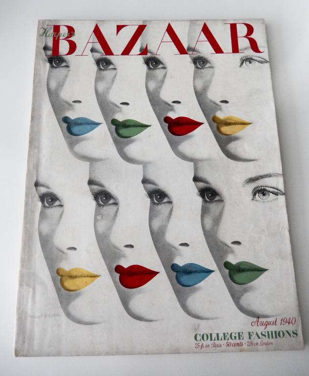 American Herbert Bayer's 1940 Harper's Bazaar Cover For Sale