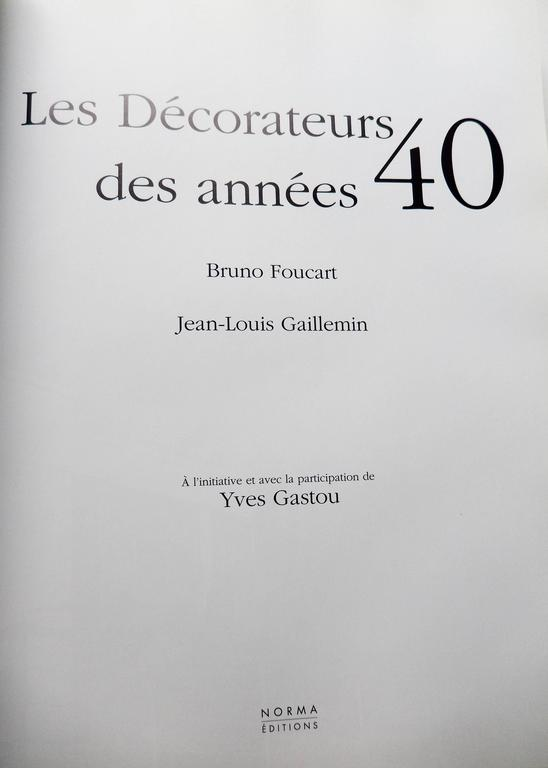 "Reference Book on French 1940s Design ""Les Decorateurs des Annees 40"" 2"