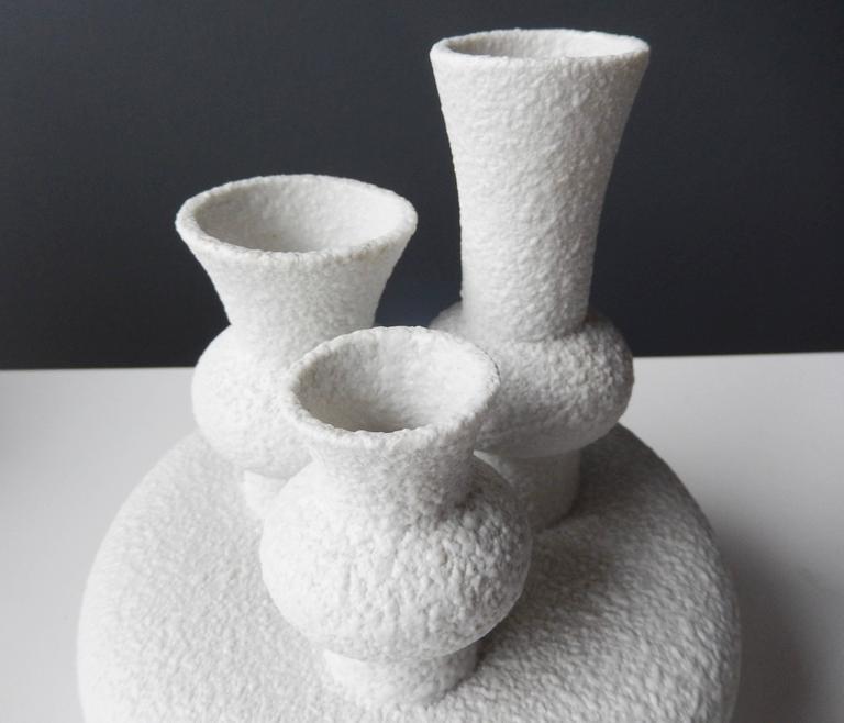 Futuristic German Sgrafo Modern Vase, 1960s In Good Condition For Sale In Winnetka, IL