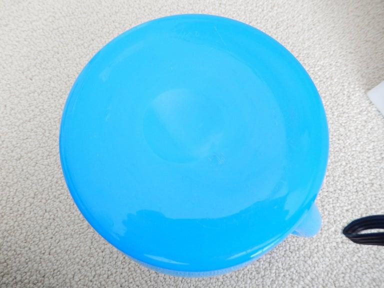 1960s Modern Blue Glass Pitcher by Erik Hoglund For Sale 1