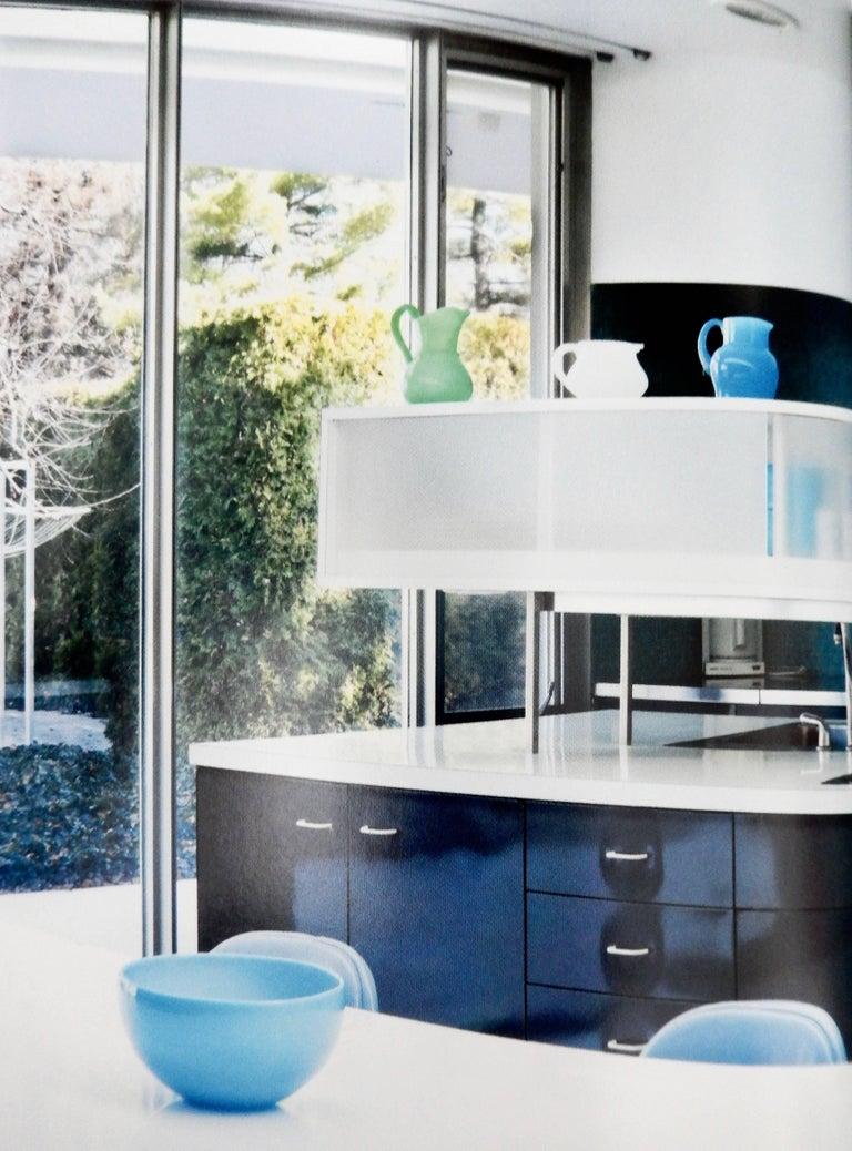 1960s Modern Blue Glass Pitcher by Erik Hoglund For Sale 5