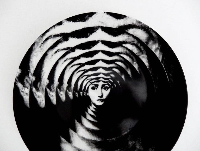 "Fornasetti ""Op Art"" Porcelain Plate, Tema & Variazioni #172 3"