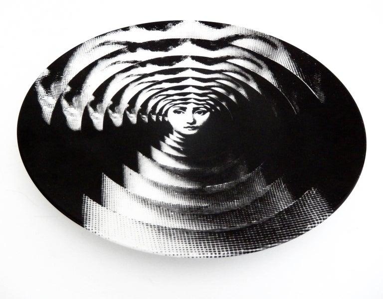 "Fornasetti ""Op Art"" Porcelain Plate, Tema & Variazioni #172 4"