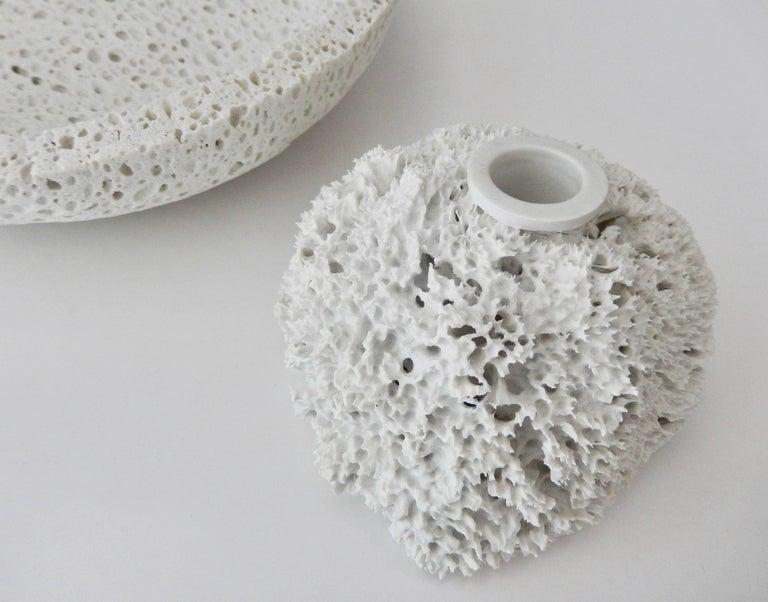 """Modern Marcel Wanders Porcelain """"Sponge Vase"""" for Droog Design, 1997 For Sale"""