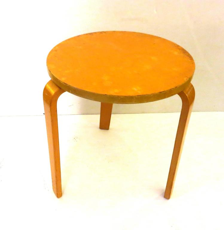 Alvar Aalto Early Model 60 Bent Plywood Stool For Sale At
