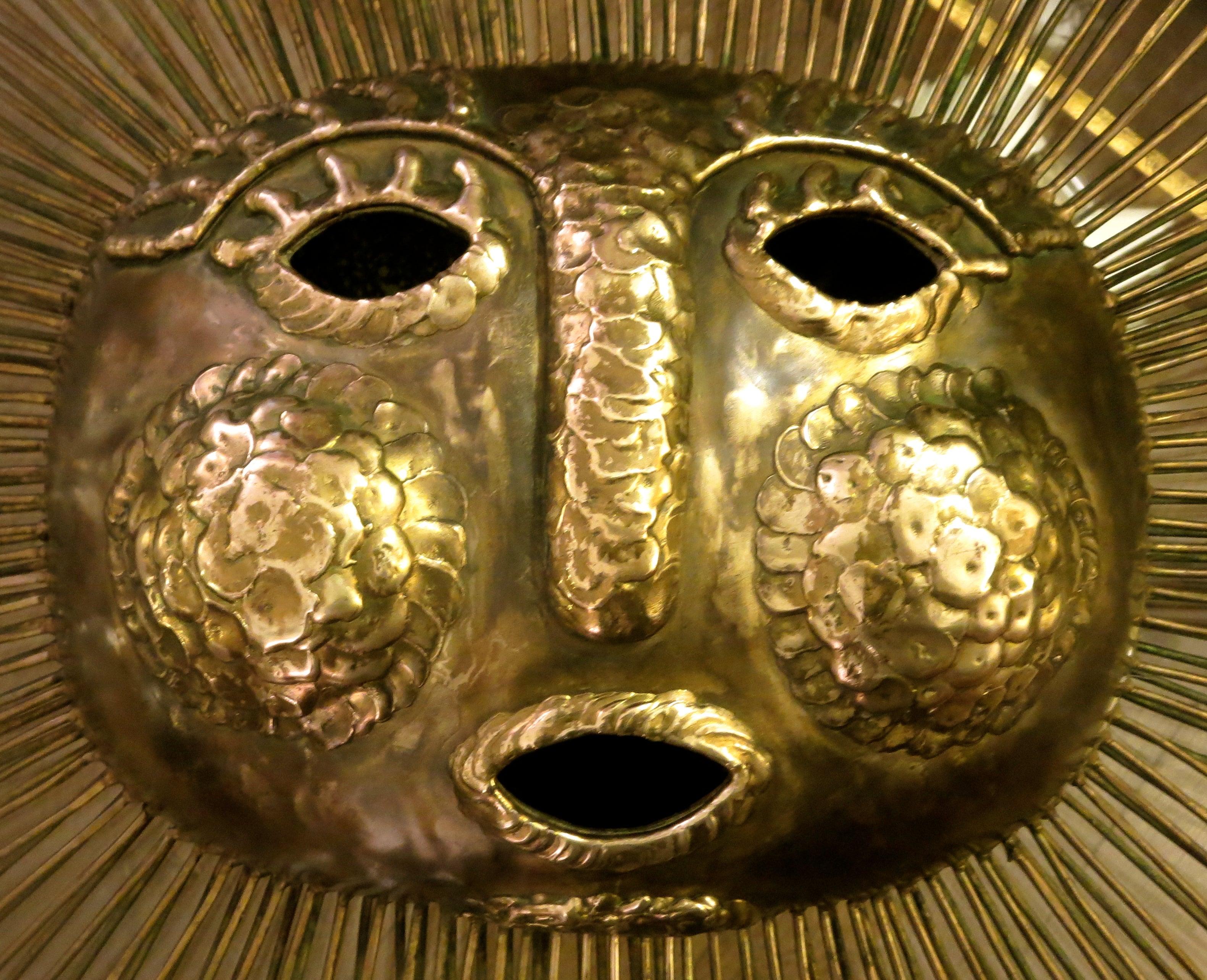 1960s Brass Hammered Sun by Talleres Emaus Mexican Modern Sun Wall ...