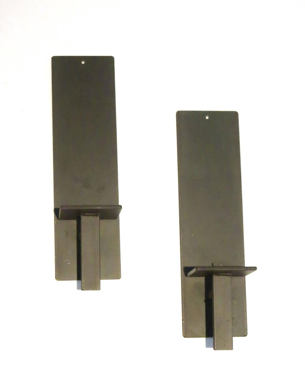 Wall Sconces Iron : Pair of Contemporary Iron Modernist Minimalist Wall Sconces at 1stdibs
