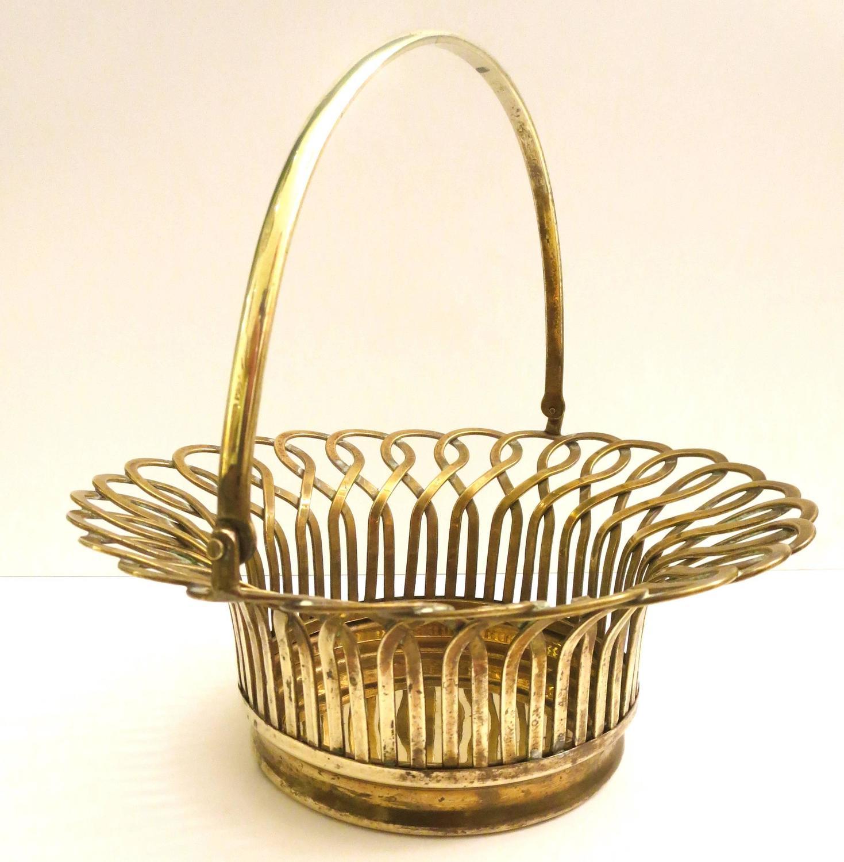 Basket Making Supplies San Diego : S polished solid brass decorative basket in the manner