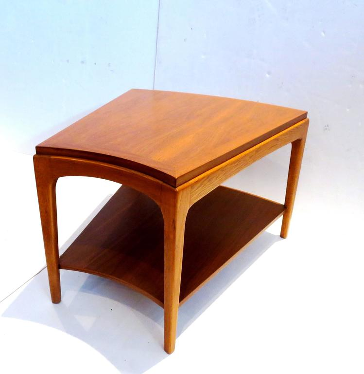 1950s American Modern Trapezoid Shape Cocktail End Table