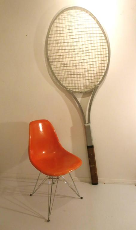 Extra large tennis display tennis racket, circa 1970s.