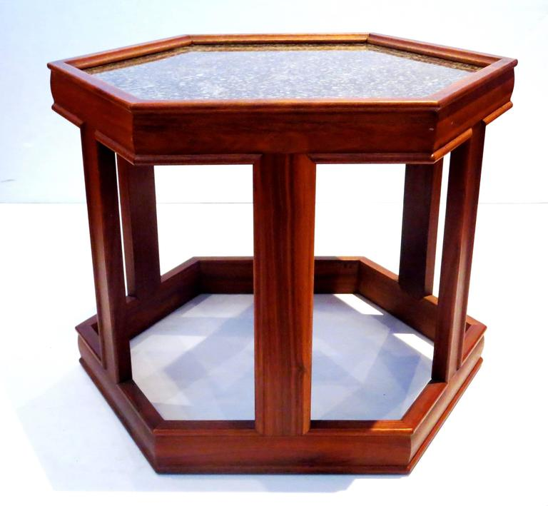 Mid Century Coffee Table John Keal For Brown Saltman At: Mid-Century American Hexagon End Table Design By John Keal