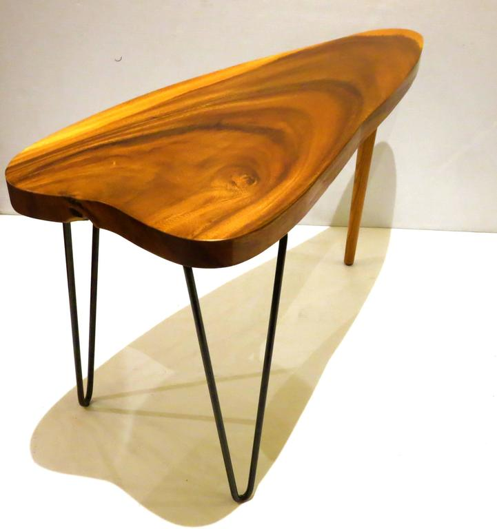 Free form organic small coffee or cocktail table koa wood for Free form wood coffee tables