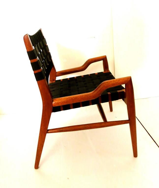 Striking Pair Of Petite Club Chairs By John Keal For Brown Saltman For Sale A