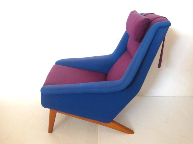 Rare Original Upholstery Lounge Chair By Folke Ohlsson For