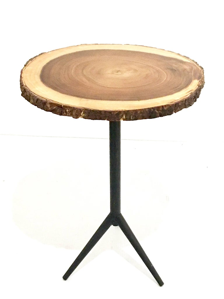 1950s american mid century modern small round top cocktail table at 1stdibs Round coffee table modern
