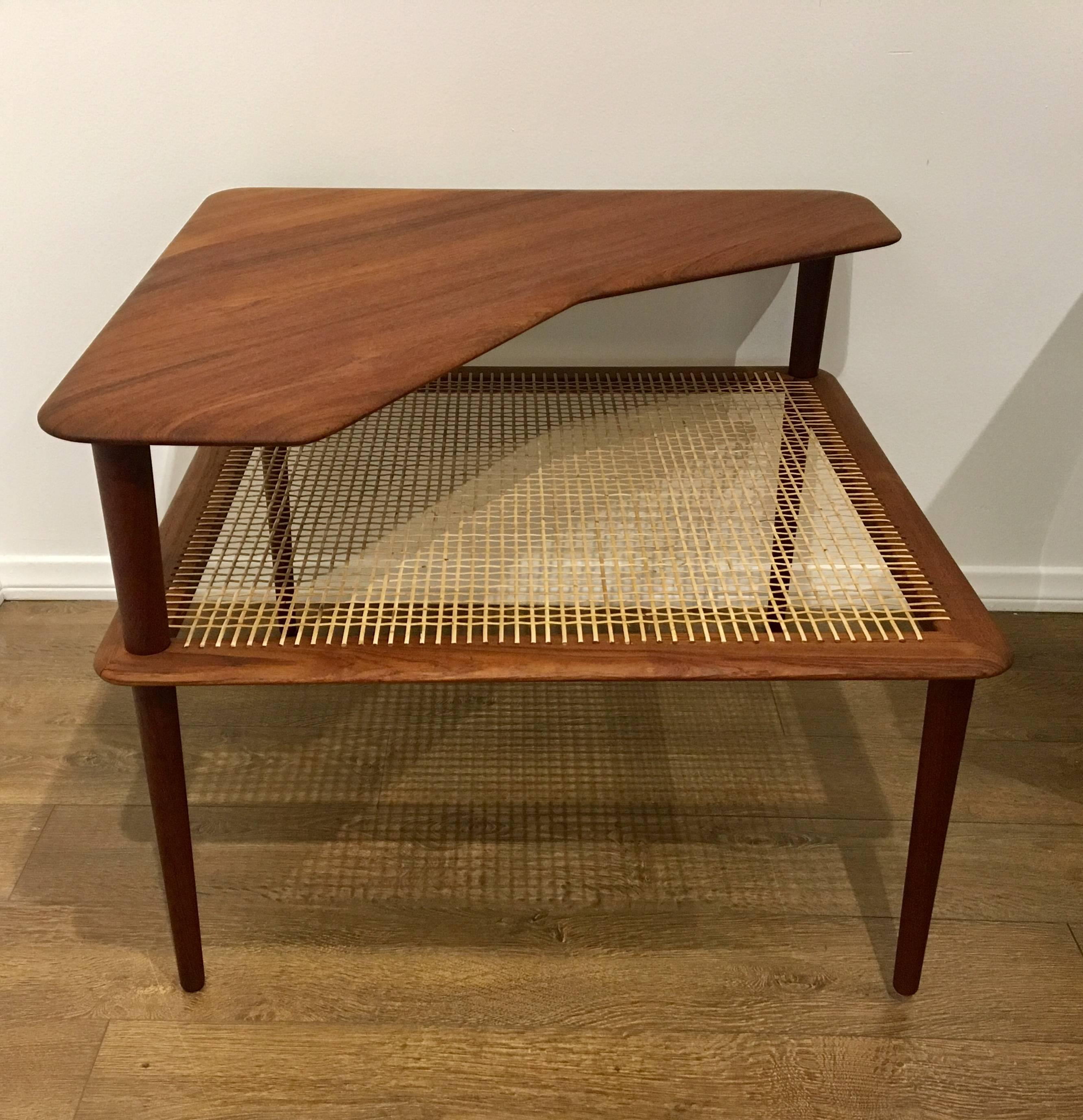 Danish Modern Corner Table By Peter Hvidt U0026 Orla Mølgaard Nielsen In  Excellent Condition For