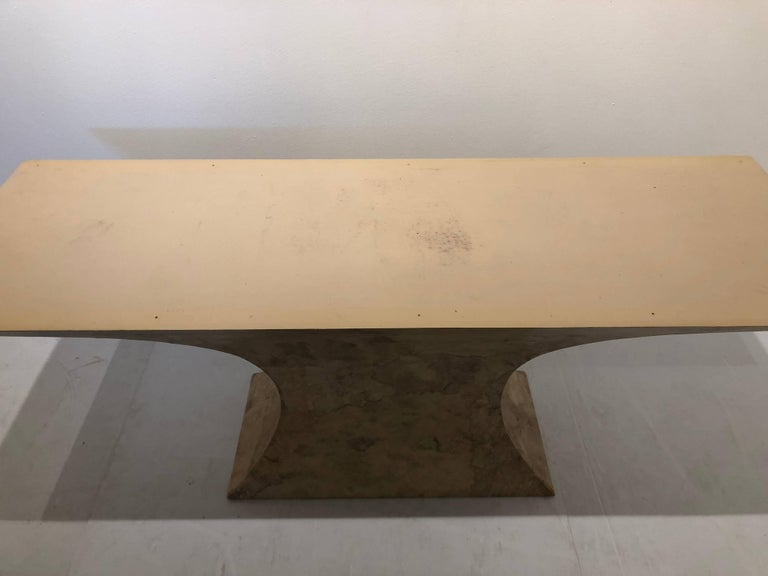 Post-Modern Striking Large Table Base in Faux Marble Finish For Sale