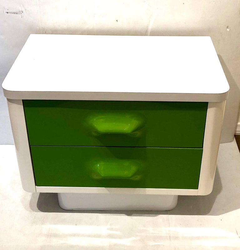 Single Space Age Broyhill Lemon Nightstand Chapter One