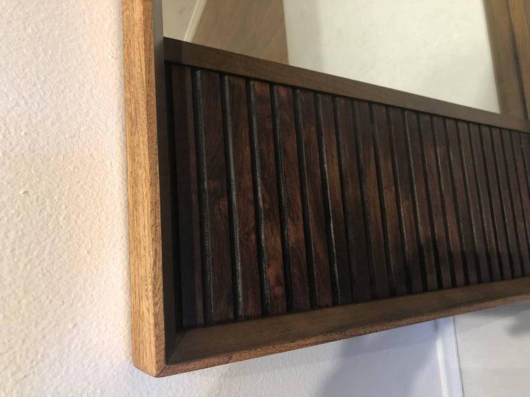 20th Century American Mid-Century Modern Walnut and Rosewood Mirror from Klassik For Sale