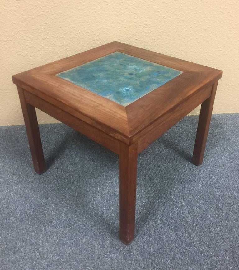 """Enameled Set of Three """"Constellation"""" End or Side Tables by John Keal for Brown Saltman For Sale"""