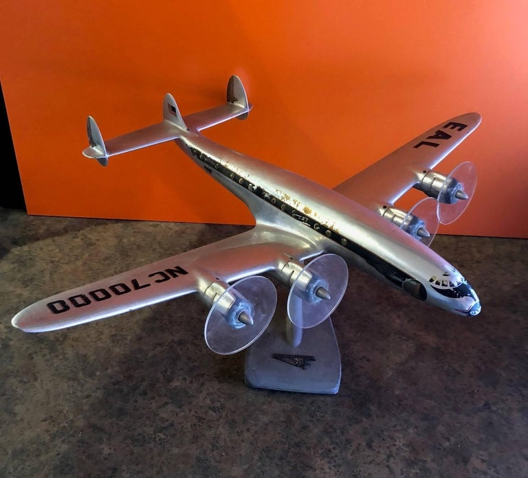 20th Century Eastern Airlines Super Constellation Aluminium Model Airplane For Sale