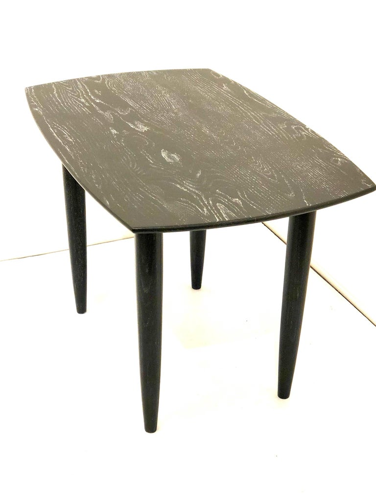 Mid-Century Modern Cerused Solid Oak Midcentury California Design End Table by Ace of California For Sale