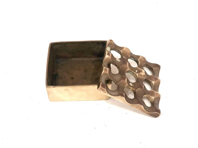 Scandinavian Modern Ultima Ashtray for Beck & Jung by Backstrom and Ljungbe in Brass For Sale