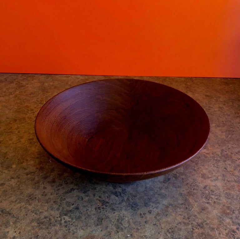 20th Century Danish Modern Staved Teak Bowl by Digsmed For Sale