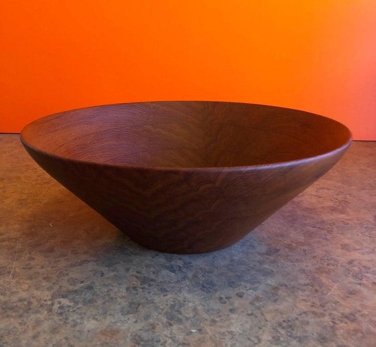Mid-Century Modern Danish Modern Staved Teak Bowl by Digsmed For Sale