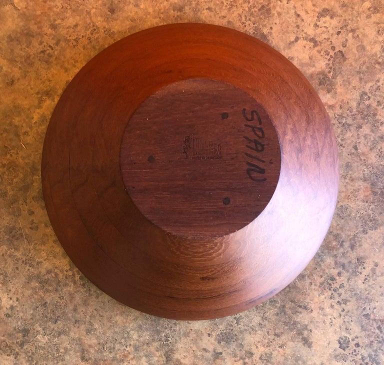 Danish Modern Staved Teak Bowl by Digsmed For Sale 2