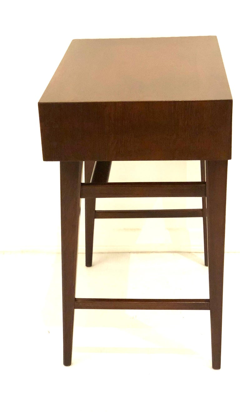 Mid-Century Modern Petite Single Mahogany Neoclassical Modern End Table For Sale