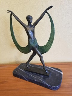 """Art Deco Bronze Sculpture """"Lysis"""" by French Artist  """"Fayral"""" 'Pierre Le Faguays'"""