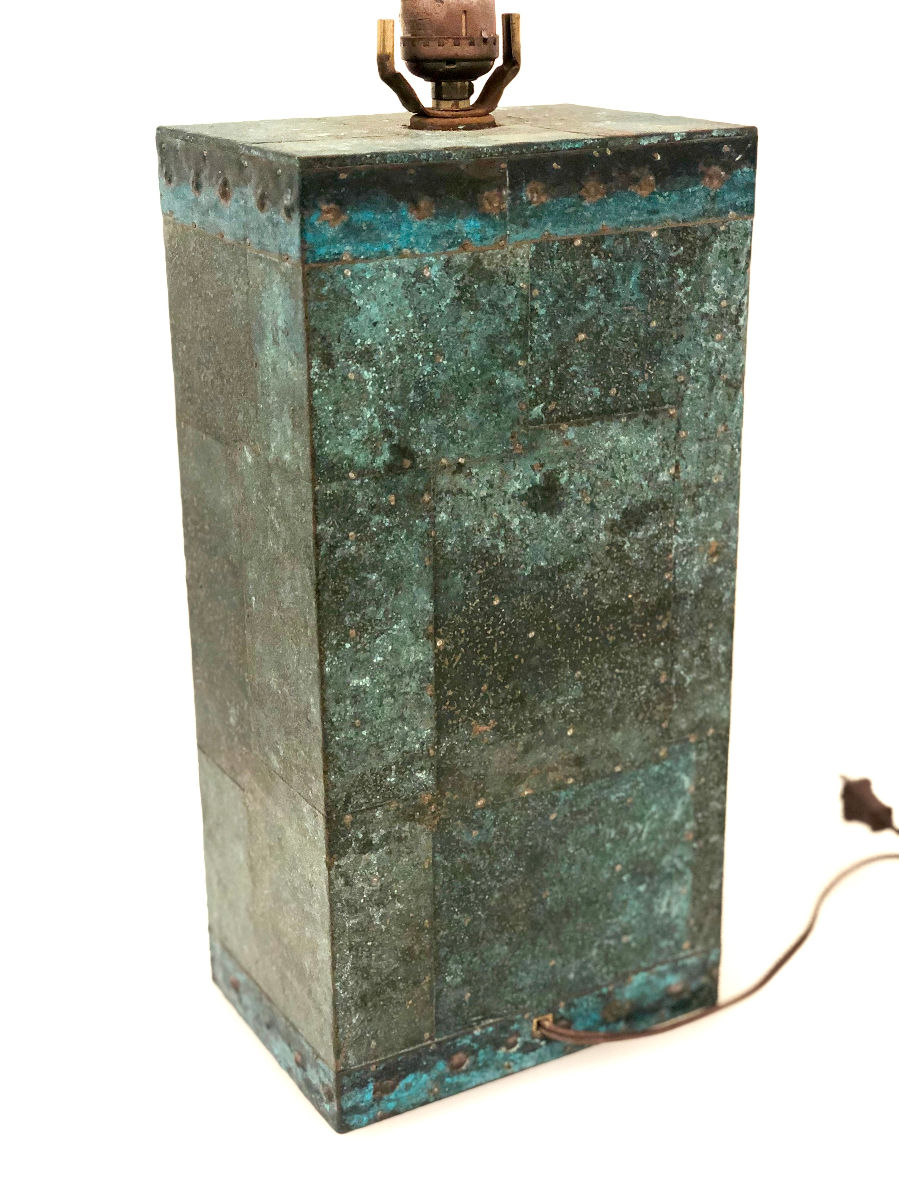 Hand Hammered Copper Patchwork Table Lamp Base At 1stdibs
