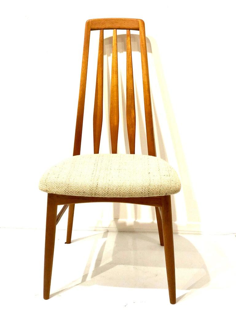 Scandinavian Modern Single Solid Teak Danish Modern Niels Koefoed Desk Eva Chair For Sale
