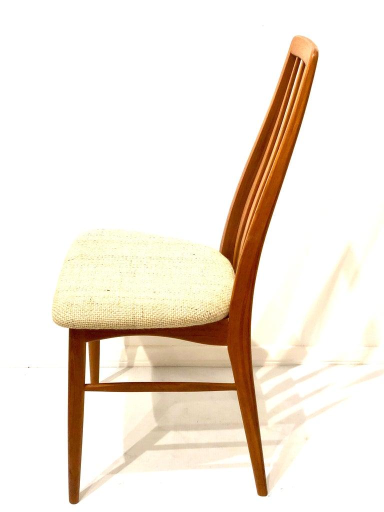 Single Solid Teak Danish Modern Niels Koefoed Desk Eva Chair In Excellent Condition For Sale In San Diego, CA
