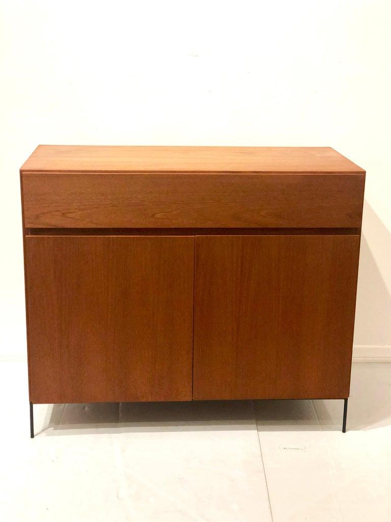 Scandinavian Modern Danish Modern Multi-Drawer Petite Teak Cabinet by Dyrlund For Sale