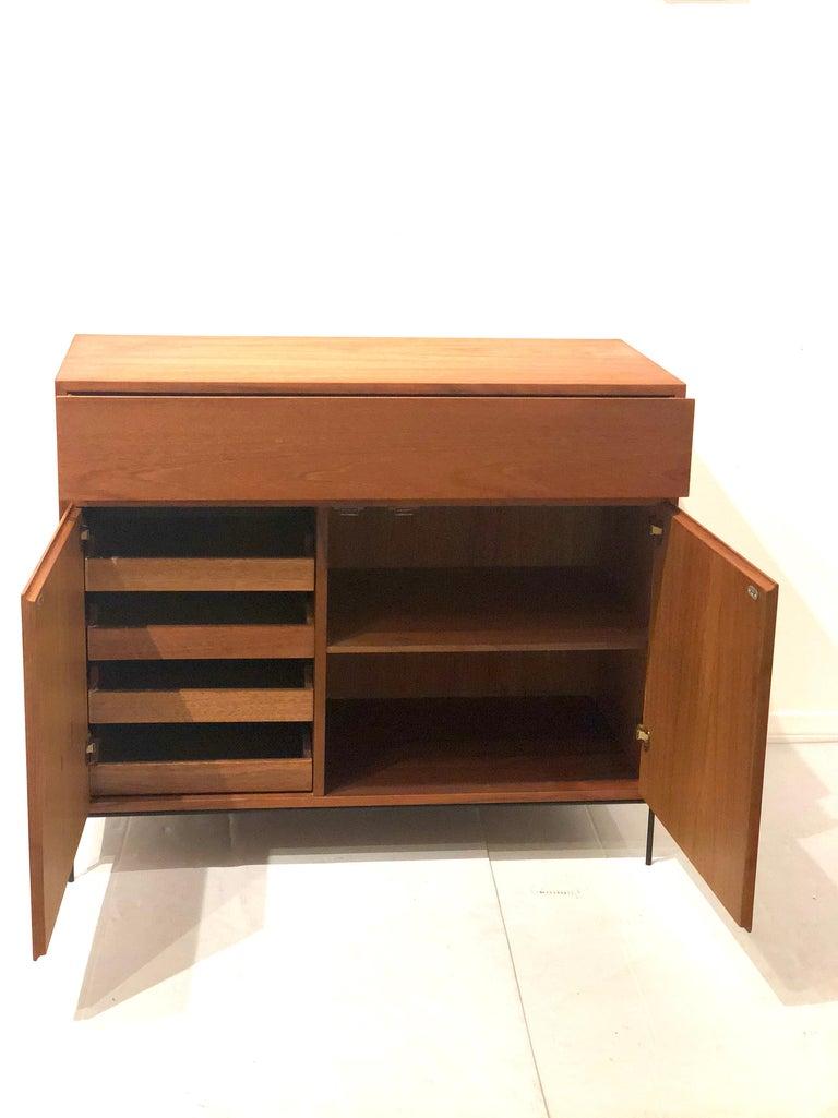 Danish Modern Multi-Drawer Petite Teak Cabinet by Dyrlund In Excellent Condition For Sale In San Diego, CA