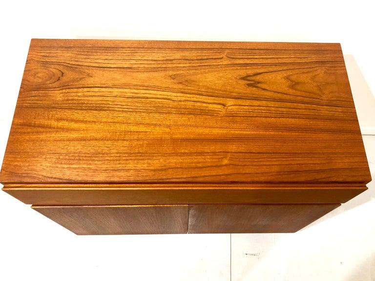 20th Century Danish Modern Multi-Drawer Petite Teak Cabinet by Dyrlund For Sale