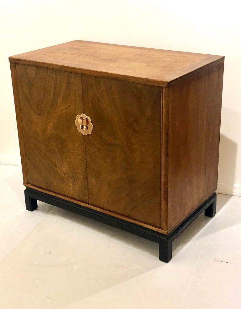 Brass Asian Modern Mid-Century Modern Cabinet by Landstrom Furniture For Sale