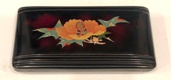Porcelain on Metal Fine Chinoiserie Occupied Japan Art Deco Box