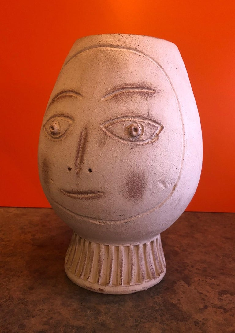 A very nice figural pottery vase in the style of Pablo Picasso, circa 1970s.