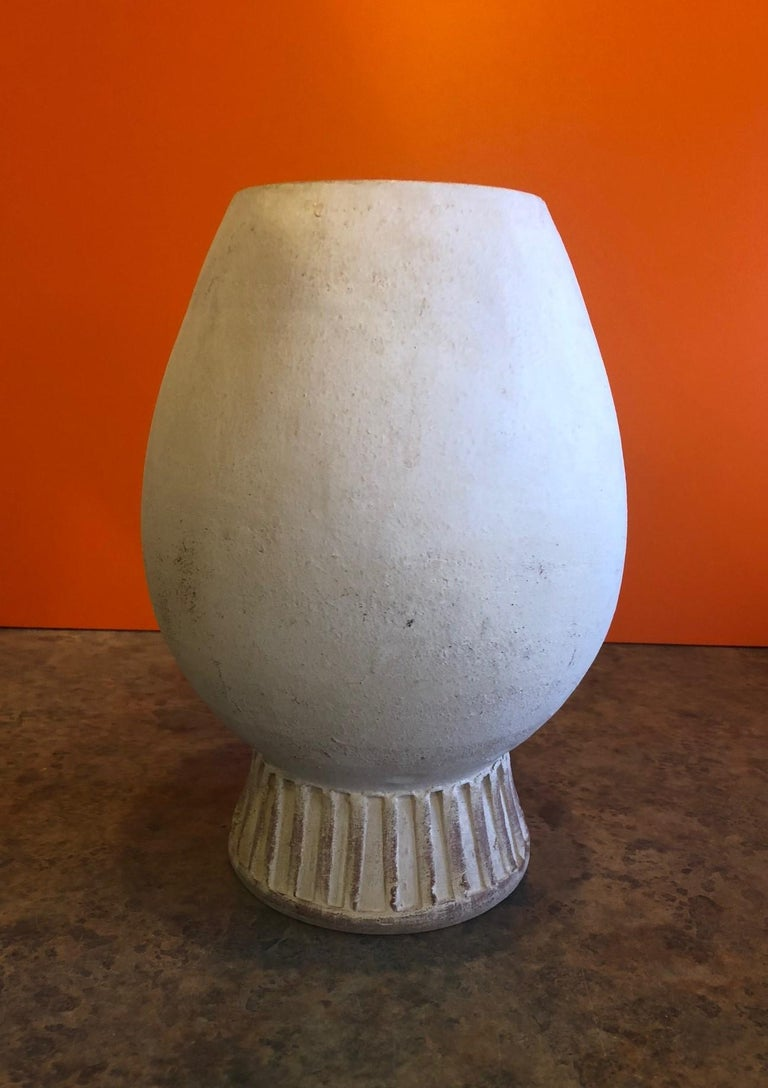 20th Century Figural Pottery Vase in the Style of Pablo Picasso For Sale
