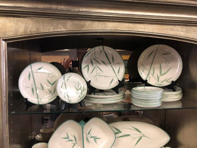 Collection of Winfield California Green Bamboo Dinnerware For Sale 1