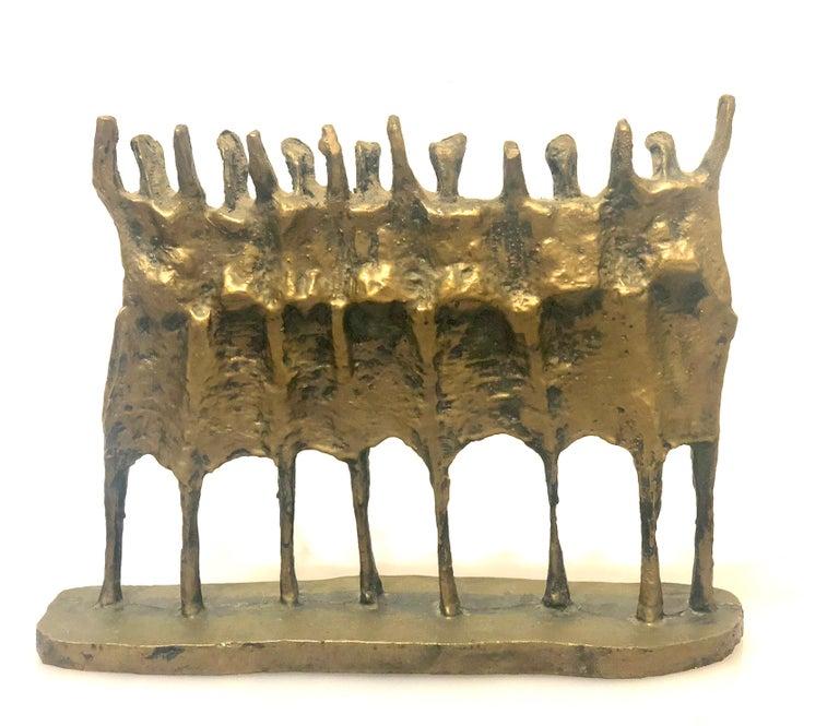 Brutalist sculpture in resin entitled