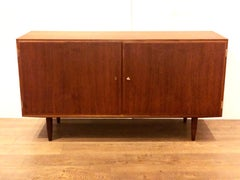 Danish Modern Teak Double Door Cabinet by Hovmand Olsen