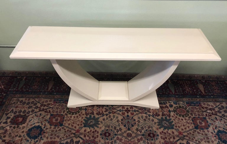 Drexel Heritage Lacquered Console Table In Fair Condition For Sale In San Diego, CA