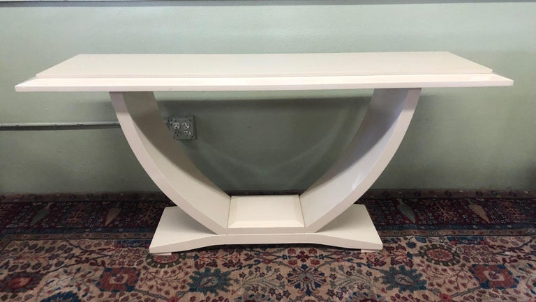 Drexel Heritage Lacquered Console Table For Sale 1