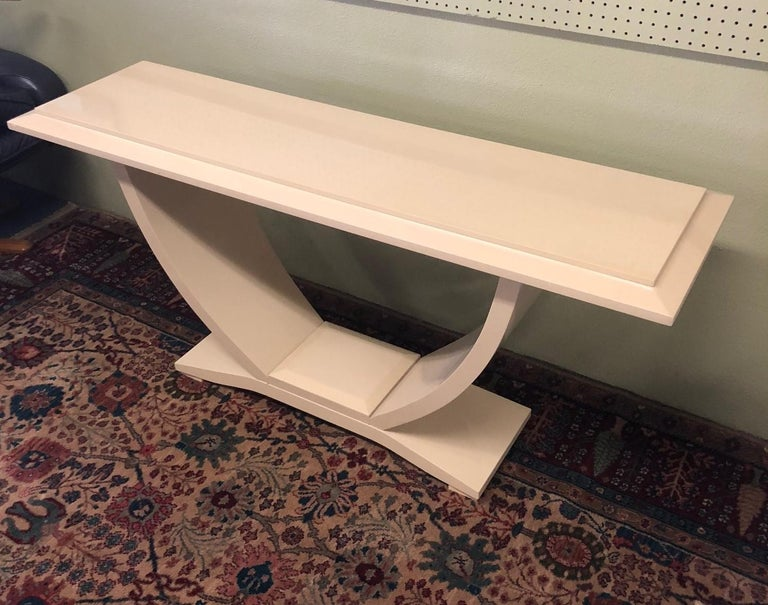 Drexel Heritage Lacquered Console Table For Sale 2