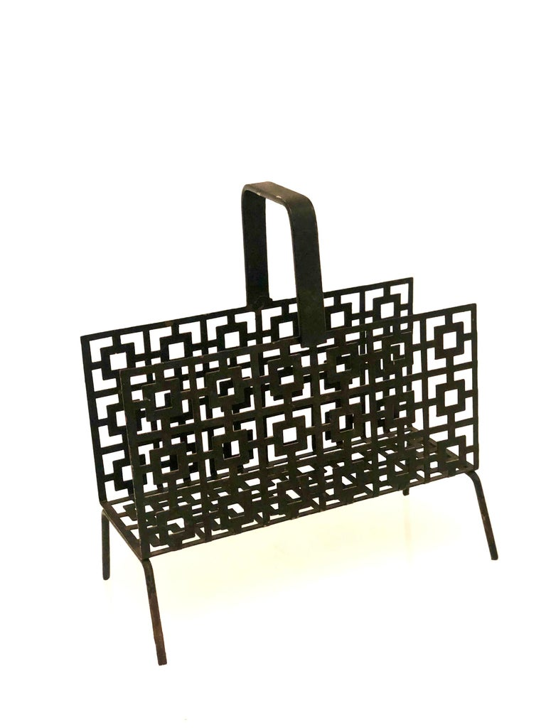 Mid-Century Modern Midcentury Perforated Metal Letter Holder For Sale