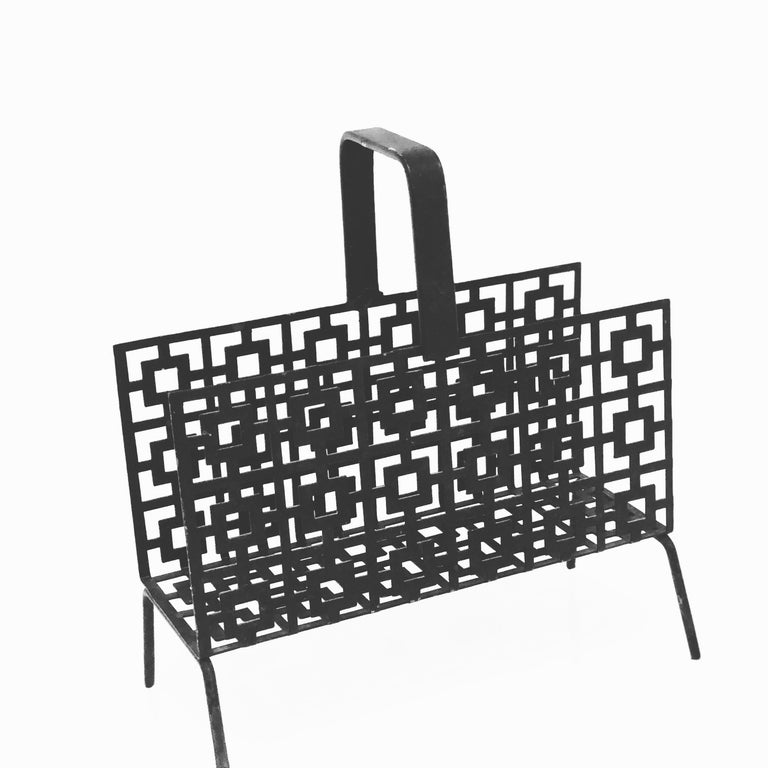 American Midcentury Perforated Metal Letter Holder For Sale